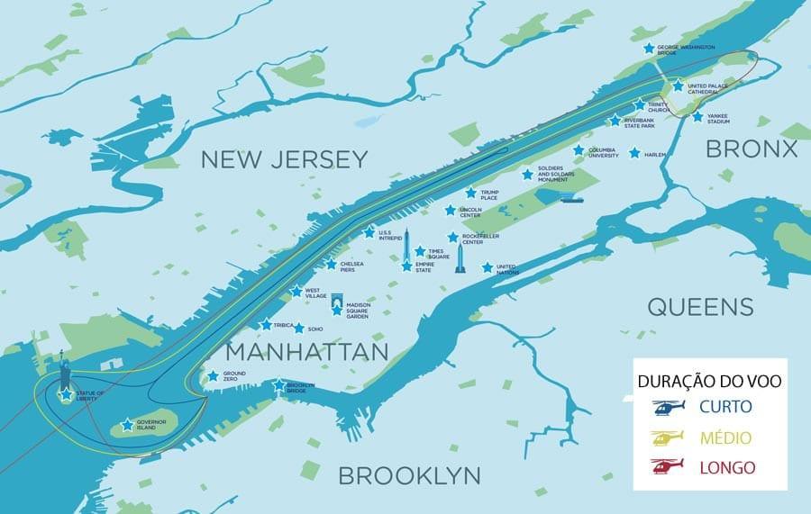 Passeio de helicóptero em Nova York