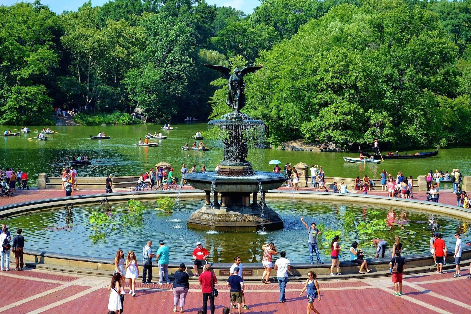 central park no verao