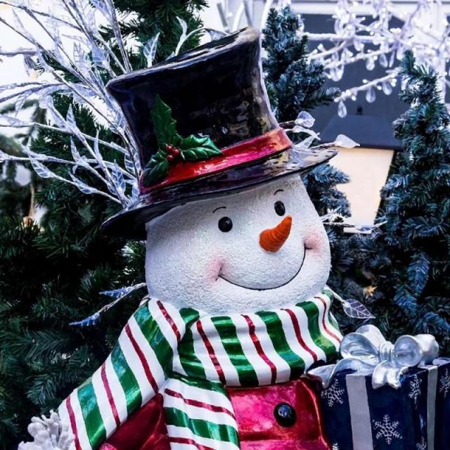 A decoração de Nova York no natal