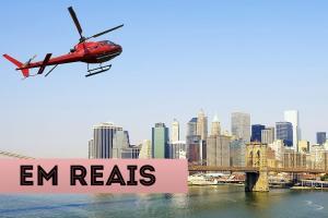 atrações em nova york em reais passeio de helicoptero em nova york