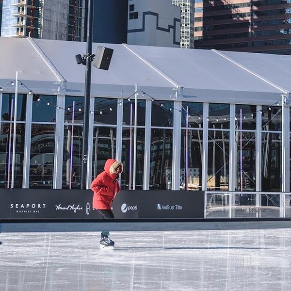 Pista de patinação no gelo em Nova York 2019